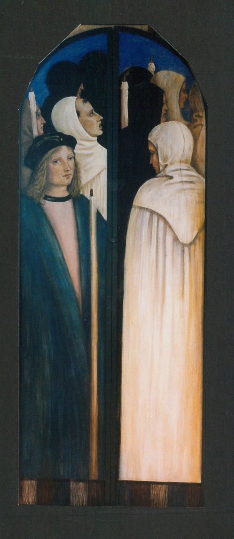 Ante di legno dipinte