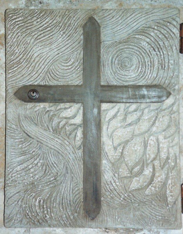 Anta in legno dipinta per il tabernacolo della  chiesa S.Maria in Sovana (GR)
