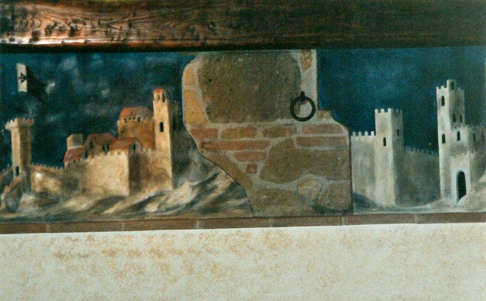 Paerticolare di pittura su muro