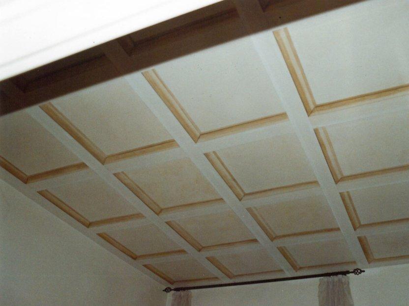 Trompe l'oeil di soffitto a cassettoni