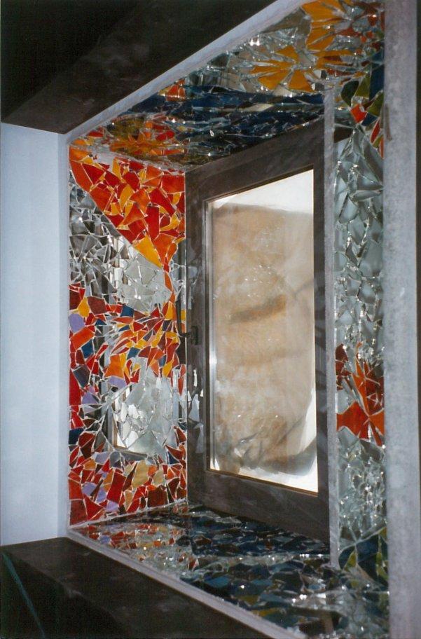 Mosaico di vetro su imbotti
