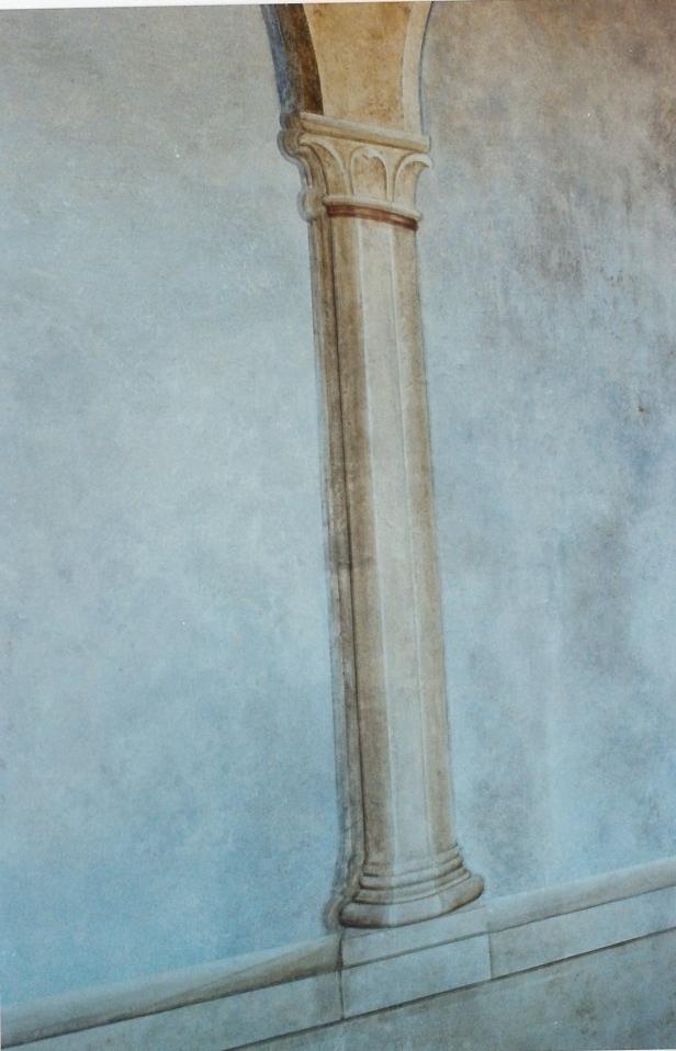 Restauro della loggia presso la curia vescovile di Pitigliano (GR)