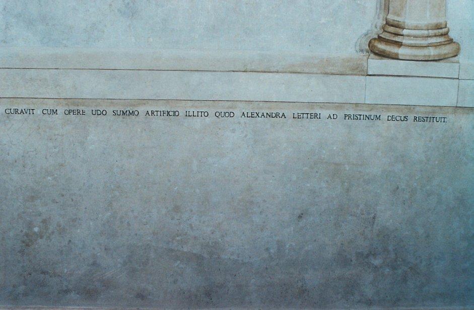Particolari del restauro presso la curia vescovile di Pitigliano (GR)