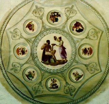 trompe-l'oeil tavolo settecentesco per Gianni Versace