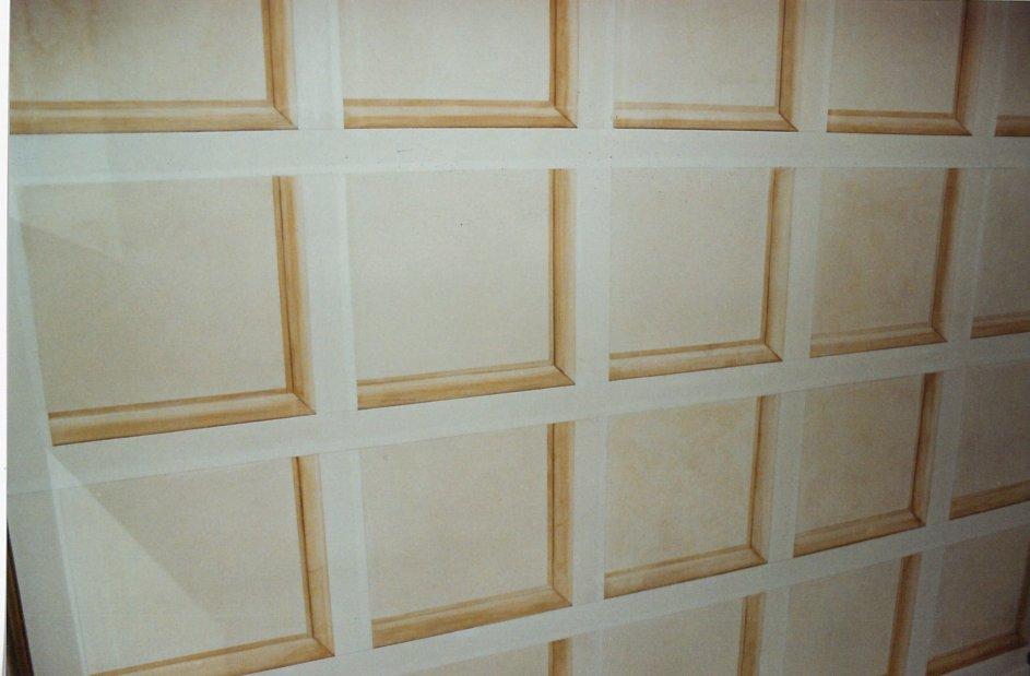 trompe-l'oeil di soffitto a cassettoni