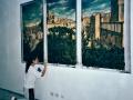 trompe-l'oeil con soggetto Pitigliano-Sorano-Manciano