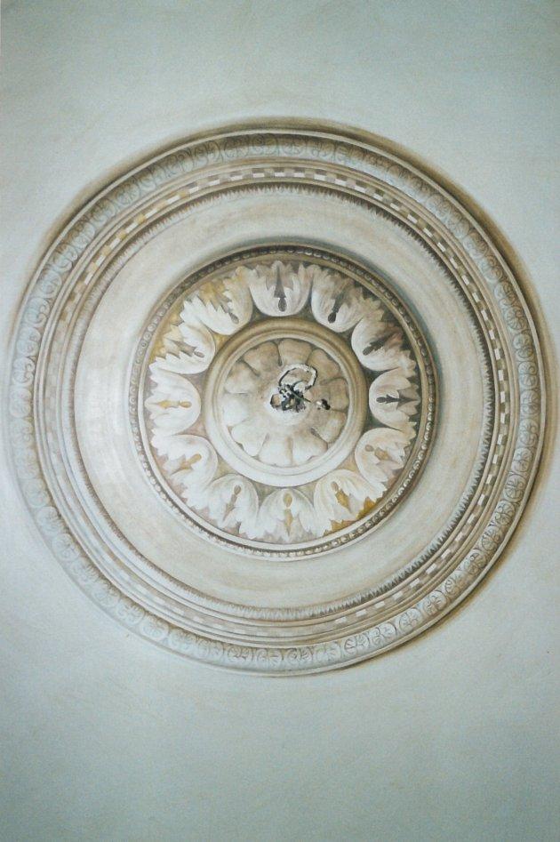 trompe-l'oeil di Rosone su soffitto