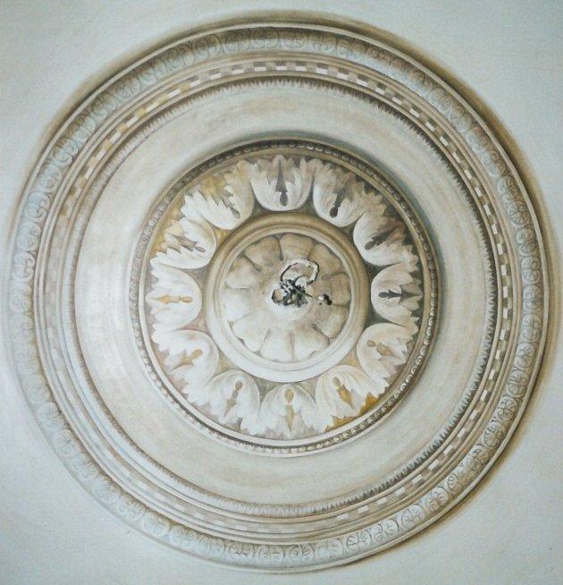 Rosone Soffitto Lampadario: Rosone per soffitto lampadario vintage in plastica con n.